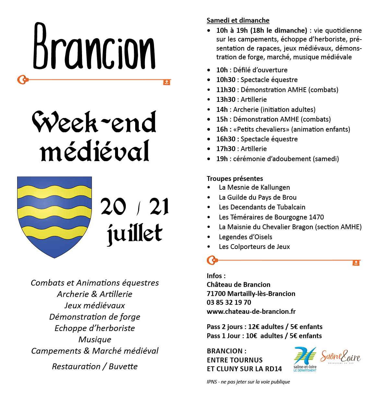 Programme fete medievale